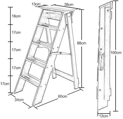Stevige stoel Kleine Seat, Schoen, Bar, Dining, Restaurant, Step Ladder, voorzitter, tafels en stoelen, massief houten Folding multifunctionele Ladder Trap stoel met 5 stappen for Huis 3 kleuren Step,
