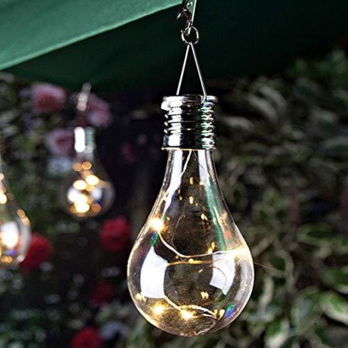 2pcs Solar Glühbirne, LED Garten Hängelampe Wasserdicht Außen Garten Camping Kronleuchter Glühbirne Heim Party Dekoration - Warmes Weiß, 2pcs / Set, Free Size