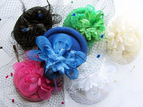 Cizoe Fascinator Hats for Women 20s 50s Vintage Pillbox Hat Kentucky Derby Fascinators Flower Veil Wedding Party Hat Tea Hat