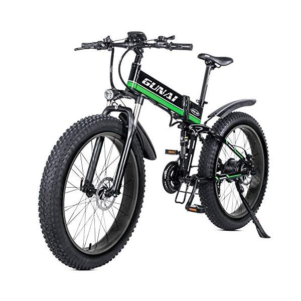 51zt+fMIKnL. SS600  - GUNAI Elektro Fahrrad 1000W 48V Llithium Batterie Mountain E-Bike mit Hydraulische Scheibenbremsen