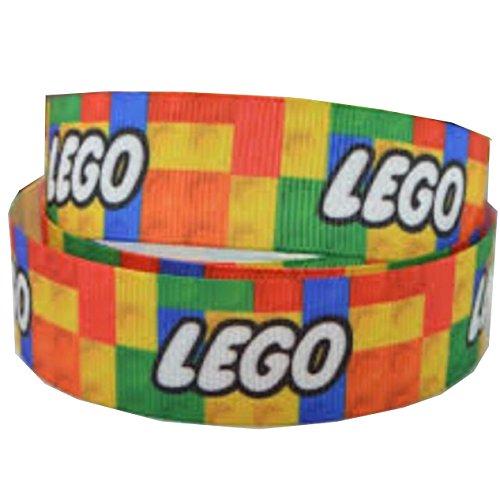 2 M x 22 MM RIPSBAND LEGO FÜR KUCHEN GESCHENKPAPIER VERPACKEN CAKE'GEBURTSTAG, FÜR SCHLEIFEN, KARTEN, BASTELARBEITEN SCHNÜRSENKEL