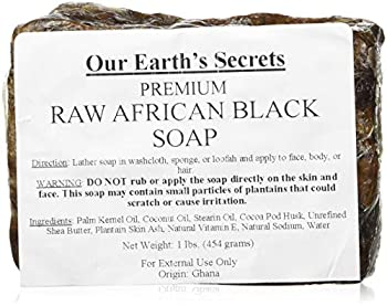 black african soap raw