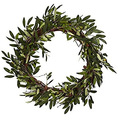 Nearly Natural 4773 20in. Olive Wreath,Green