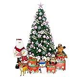 Topashe Albero di Natale Artificiale Innevate e Pigne,Albero di Natale Luminoso, Decorazioni criptate-Rosa_1,8 Metri,Punte Innevate e Pigne Effetto Realistico