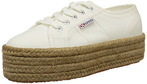 Superga 2790 Cotropew Damen Sneaker, Weiß, 37 EU