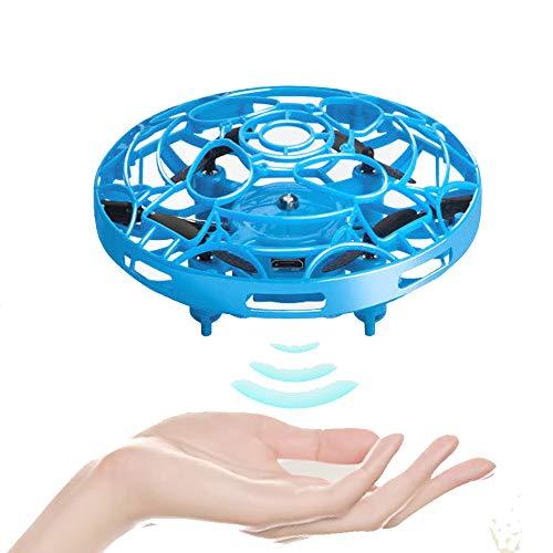 78Henstridge UFO Mini Drohne,Kinderspielzeug Handgesteuert RC Quadcopter,Wiederaufladbare Infrarot Induktion UFO für Jungen Mädchen Indoor Outdoor Fliegender Ball (Blau)