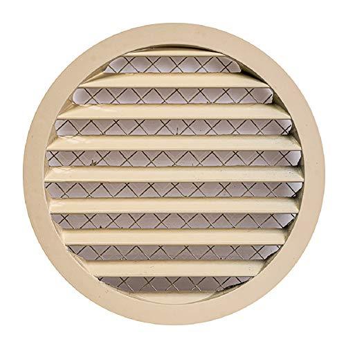 Cubierta de ventilación de rejilla de ventilación de aluminio beige 200mm/8
