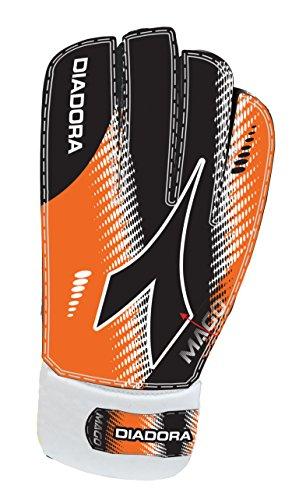Diadora Soccer Mago GK Gloves, Orange/Black, Size 4