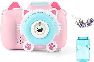 BabyWorld Pink Cat Design Kid Bubble Camera Machine, Bubble Maker for Girls Boys Child Children Birthday Gift Presents