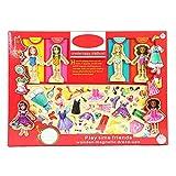 Enjoyyouselves Dress Up Puzzle giocattolo magnetico in legno per attirare le bambole in legno