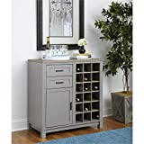 Ameriwood Home Carver Bar Cabinet, Gray