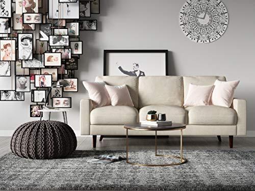 US Pride Furniture Obadiah Sofa, Beige