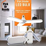 Pick Ur Needs™ B22 Foldable Light, Fan Blade LED Light Bulb, Super Bright