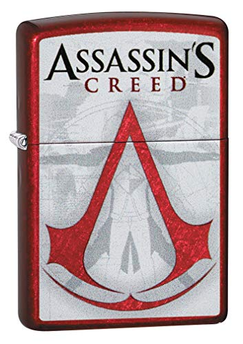 Zippo Classic Lighter-Assassins Creed Feuerzeug, Messing, Individual Design, Original Pocketsize
