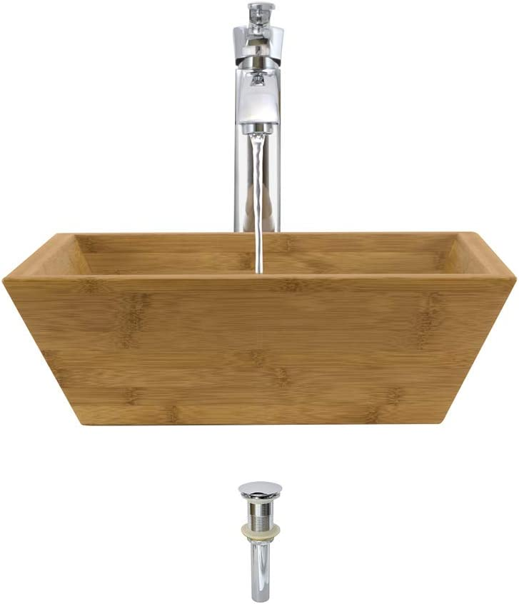 爆安 891 Bamboo ☆正規品新品未使用品 Vessel Sink Chrome Ensemble Bathroom with 726