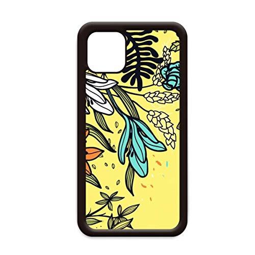 Moderne kunst Lelie Bloemen Planten Tekenen voor Apple iPhone 11 Pro Max Cover Apple Mobiele Telefoonhoesje Shell, for iPhone11