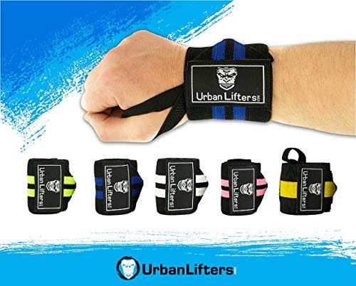 Urban Lifters Fasce per i Polsi (Coppia) -Wrist Wraps (Black/Rosa)