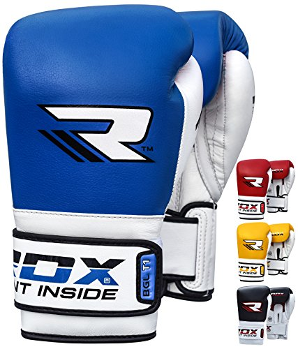 RDX Boxhandschuhe T14 Harrier Tattoo, Farbe:Braun, Boxing Gloves:16 oz