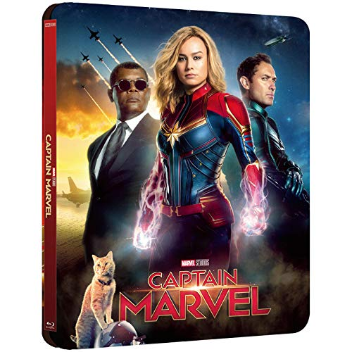 CAPTAIN MARVEL 3D LIMITED EDITION STEELBOOK / LENTICULAR COVER / IMPORT / INCLUDES 2D BLU RAY / REGION FREE