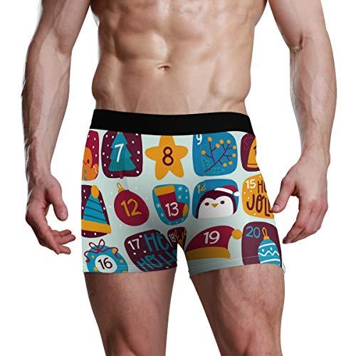 DXG1 Adventskalender Weihnachten Boxer Unterwäsche Teenager Jungen S M L XL Gr. S, Mehrfarbig
