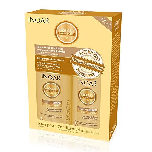 Inoar Daymoist Shampoo und Conditioner, Keratin Glättung, 1 Pack