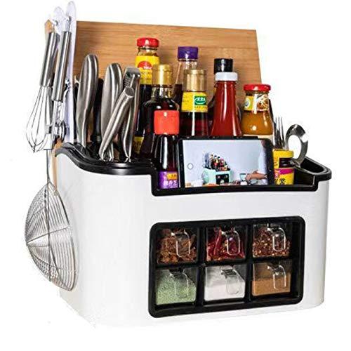 DZHTWSRYGR Spice Jars Multifunctional Kitchen Seasoning Box Seasoning Jar Container Seasoning Rack Storage Rack Kitchen Storage Rack