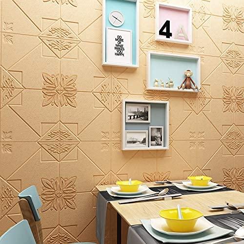 Heimausstattung 3D orientalisches Charm Muster dekorative Wandplatte für Wohnzimmer Schlafzimmer Hintergrund Wanddekoration 2,3 Fuß x 2,3 Fuß (zehn Stück pro Stück) (Farbe: Schwarz)