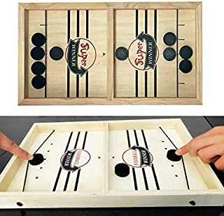 Dailychic Slingshot Table Hockey Party Game, Bouncing Chess Hockey Game, Table Desktop Battle 2 in 1 Ice Hockey Game, Winn...