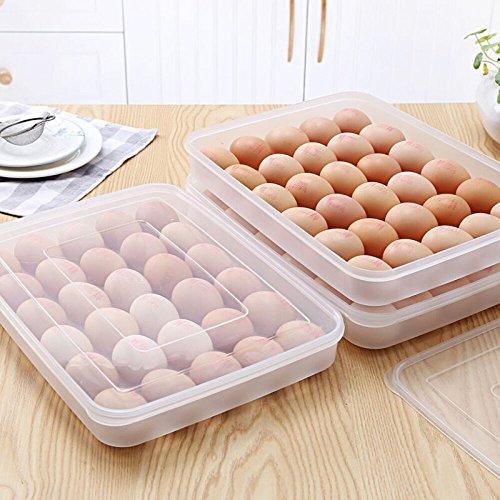 abgedeckt Ei Halterung für Kühlschrank, 30Eier, transparent, Kunststoff