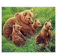 300ピース木製ジグソーパズル草の中のクマの家族大人子供のゲームおもちゃのストレスリリーフパズル