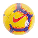 Nike Pitch Training Soccer Ball (Yellow/Purple/Crimson, 4)