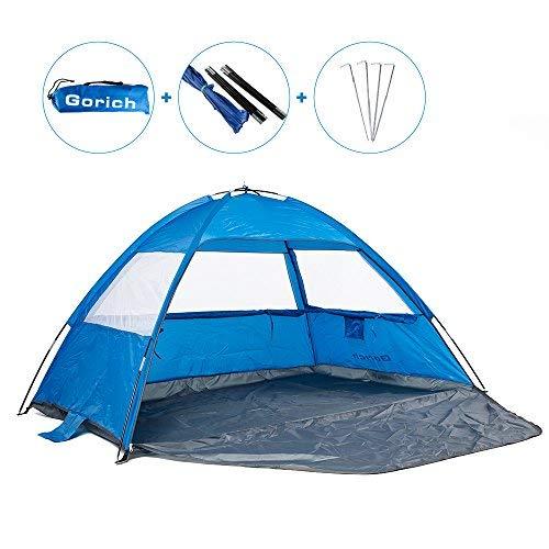 Gorich [2019 New] Beach Tent,UV Sun Shelter Lightweight Beach Sun Shade Canopy Cabana Beach Tents...