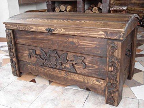 WoMa Kreativ Shop / deutschlandweit einziger Anbieter diesen Hersteller Massive Handgemachte Holzkiste Truhe Box Holz Aufbewahrung Antik Dekoration Wohnen Möbel Sitzbank Schuhschrank Kaffee Tisch