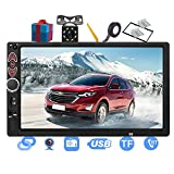 Double Din Car Stereo-7 inch Touch Screen Double din car Radio,Compatible with BT TF USB MP5/4/3 Player FM ,Support Backup Rear View Camera, Mirror Link ,Caller ID, Upgrade The Latest Version