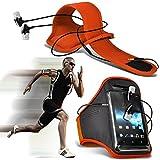 (Orange + écouteur) Asus Zenfone 2 Deluxe ZE551ML intégrée de haute qualité sport Brassards en cours Bike Cycling Gym Jogging...
