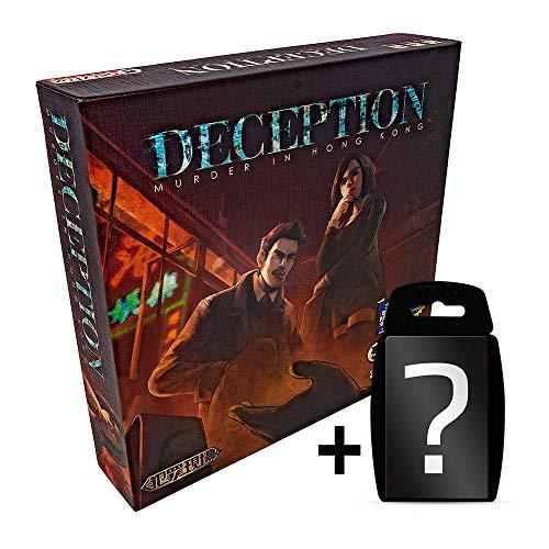 Deception Getäuscht: Mord in Hong-Kong - Grundspiel - Brettspiel | DEUTSCH / Mehrsprachig | Set inkl. Kartenspiel