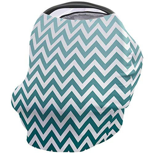 Affordable Geometric Nursing Cover for Baby Breastfeeding, Soft Breathable Stretchy Carseat Canopy, ...
