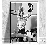 shifangtrade Poster Schwarz Weiß Lady Gaga Popmusik