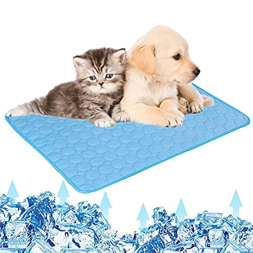 Tappetino rinfrescante per animali domestici tappetino rinfrescante per cani e gatti, materiale in tessuto pieghevole tappetino rinfrescante per animali domestici cuccioli di gatto,3 dimensioni S
