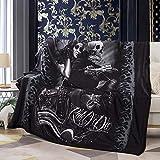 Vanson Ride or Die Motorcycle Biker Lovers Luxury Royal Plush Blanket, Soft Blanket Throw (Style 1)