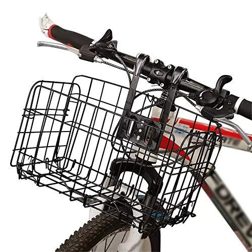 QHGao Cesta De Bicicleta Trasera Plegable Malla De Alambre, Cesta De Acero Desmontable para Bicicletas Plegables, Bicicletas De Montaña, Accesorios para Bicicletas, Sin Ocupar Espacio