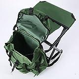 WAYMX Portable Backrest Chair Fishing Stool Travel Shoulder Bag Removable Backpack Folding Stool