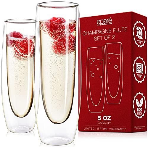 Stemless Sparkling Wine Glasses