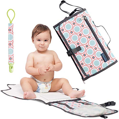 Portable Diaper Changing Pad Built-in Head Cushion Waterproof Baby Travel Changing Station
