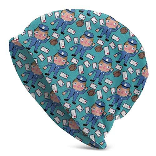 Qinckon Mail Time Beanie Hombres Mujeres Unisex Soft Cuffed Plain Skull Knit Hat Cap Gorro de Punto Diario