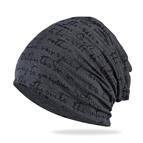 Gorro Beanie Sombrero Hat Moda Mujer Hombre Sombrero Unisex Cálido Invierno Gorro De Punto Gorro Hip-Hop Beanie Cap-Dark_Gray