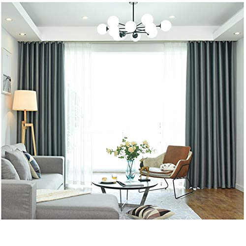 YHviking Blackout Curtains,Readymade Curtain,Pencil Curtain Draped Panels Fade-resistant Ventilation For Cafe Living Room(1 Curtain)-C 150x270cm(59x106inch)