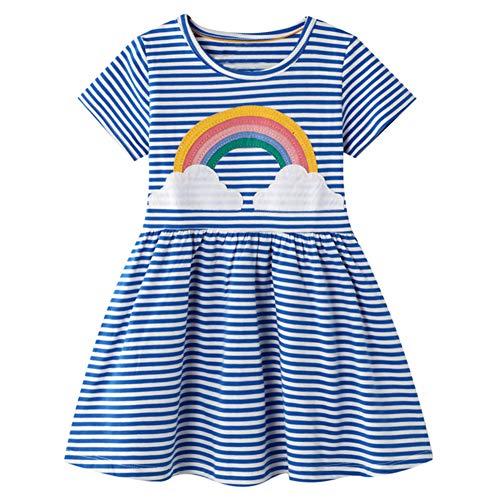 Baby Girls Summer Dress Short Sl...