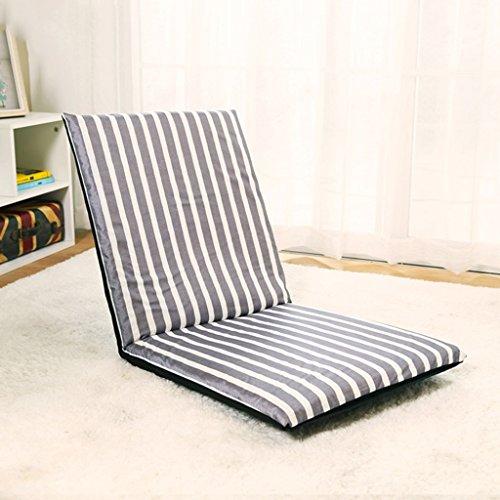 Lazy Sofa Fold Chaise Chambre Salon Tissu Loisirs Fauteuil -LI JING SHOP (Couleur : Stripe)