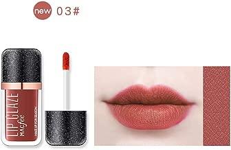 FWEIP Bright Star Lip Glaze 6 Color Makeup Bright Stars Lip Glaze Soft Texture Plumper Matte Lip Glaze 7.5ml